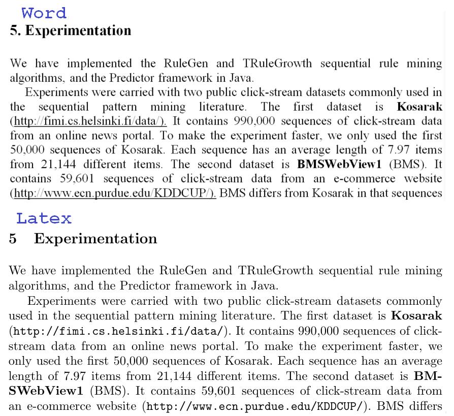 Word vs Latex 3