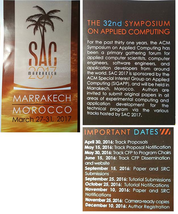 ACM SAC 2017 conference