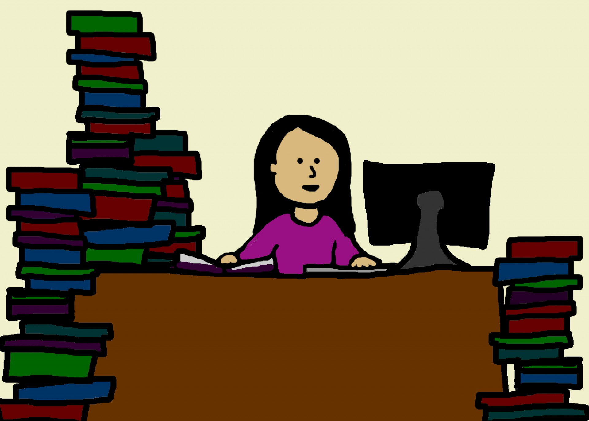 woman-studying-cartoon
