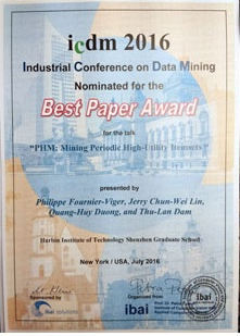 Best paper nomination certificate