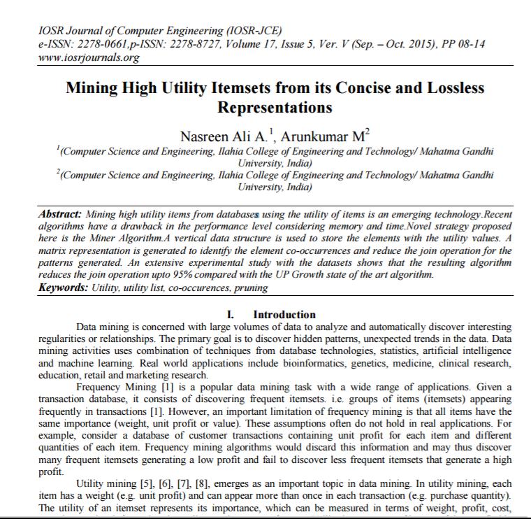 Mining high utility item sets pdf files