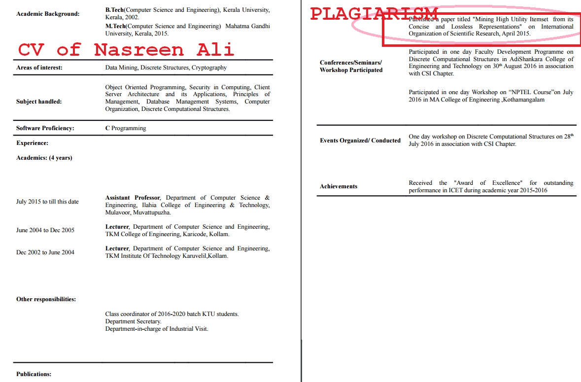 Ilahia College of Engineering - Plagiarism Nasreen Ali