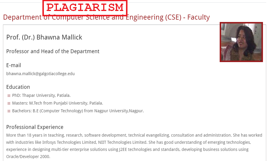 Bhawna Mallick Uttar Pradesh Plagiarism