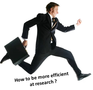 How to be more efficient at research?