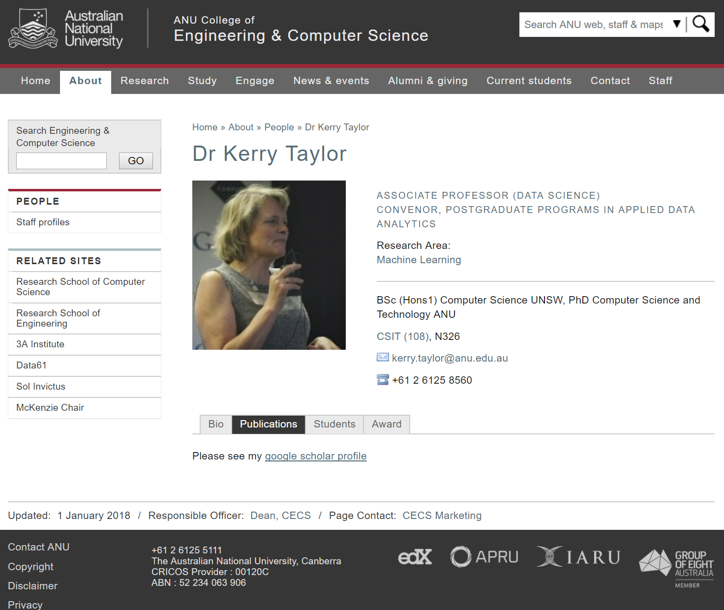 Kerry Taylor (Australian National University)