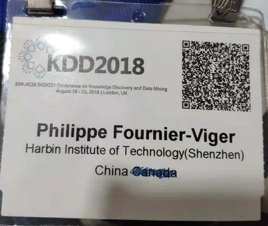 kdd 2018 conference badge