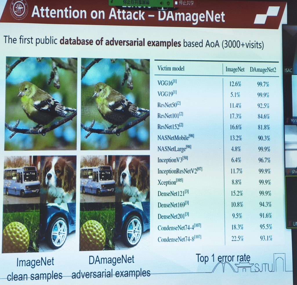 database of adversarial examples