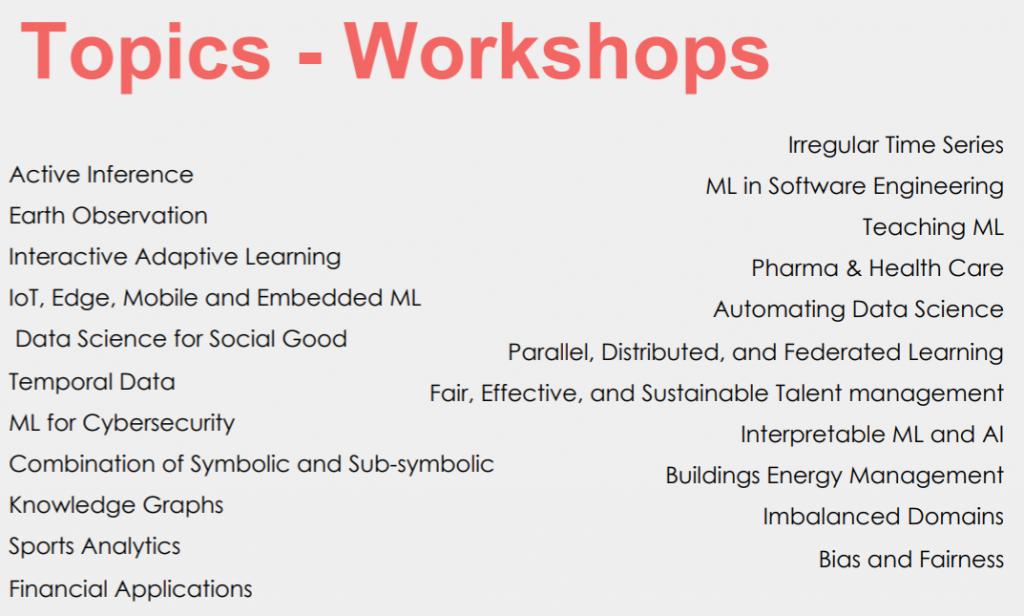 ecml pkdd workshops